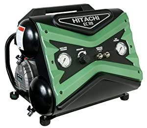 Hitachi EC119SA 15 amp 2.5-Horsepower 4-Gallon Twin-Stack Air Compressor