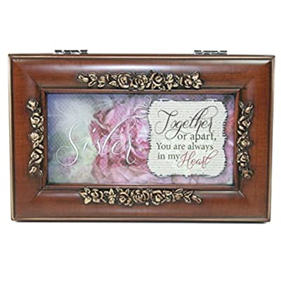 Woodgrain Petite Rose Sister Music Box - Perfect Sister Gift by Cottage Garden