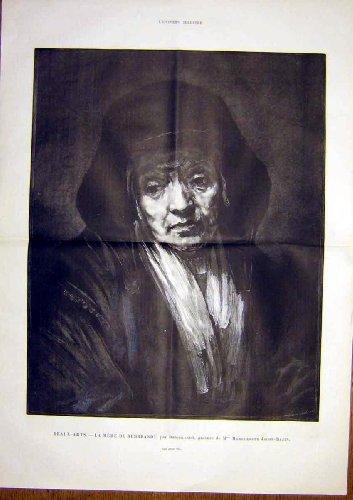 Rembrandt Mother Jacob-Bazin Portrait French Print 1891