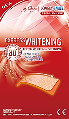 28 Teeth Whitening Strips | NEW 30 min. Express | Lovely Smile Premium Line Professional Quality - Teeth Whitening Kit - Tooth Whitening - Express Whitening - Whiter Teeth