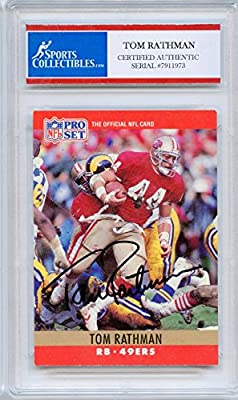 Tom Rathman Autographed San Francisco 49ers Encapsulated Trading Card - Certified Authentic