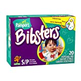 Pampers Bibsters, Sesame Street, Small, 20-Count Boxes (Pack of 6) (120 Disposable Bibs)