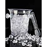 Clear Plastic 4″ Base Ice Bucket & Tongs (small, does not fit standard wine bottle)
