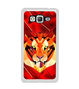 Tiger 2D Hard Polycarbonate Designer Back Case Cover for Samsung Galaxy Grand Prime :: Samsung Galaxy Grand Prime Duos :: Samsung Galaxy Grand Prime G530F G530FZ G530Y G530H G530FZ/DS