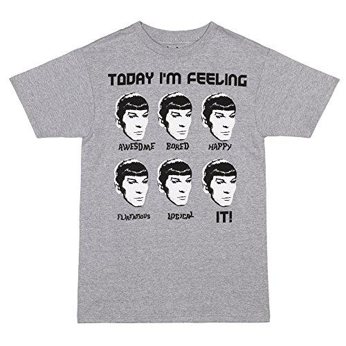 Star Trek Today I'm Feeling Spock T-Shirt - Heather Grey (Medium)