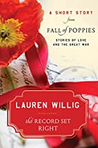 The Record Set Right by Lauren Willig