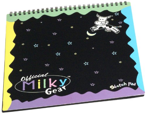 Official Milky Gear Sketch Pad Black for Gel Pen