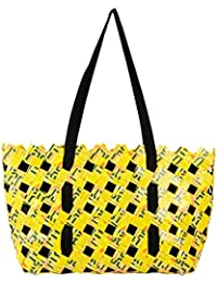 ANULIFE Tetra Pack Papers Yellow Reusable Shopping Bag (000Blalms12)