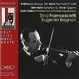 Brahms; Sonate op.108, Bach; Partita BWV 1002 etc.