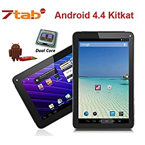 7 Inch E-Passion Android 4.4 kitkat Rooted PC Tablet - Rout Touch Screen - HDMI Output 1080P - Micro USB Port - Slim Style All Purpose,Great for Kids & Adult - Face & Back Camera - Wifi for Internet - DualCore - Google Play Installed