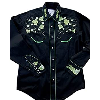 Rockmount Mens Vintage Hops Embroidered Country Western Shirt
