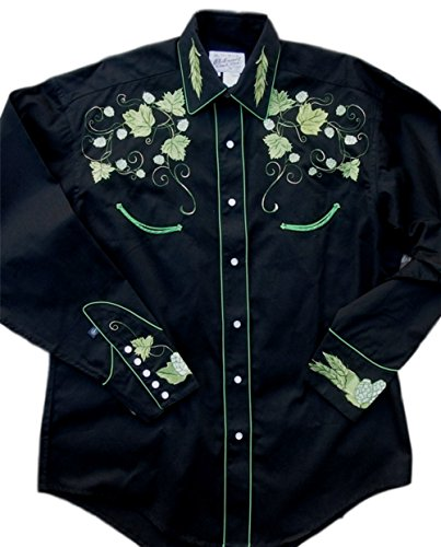 Rockmount Mens Vintage Hops Embroidered Country Western Shirt 0