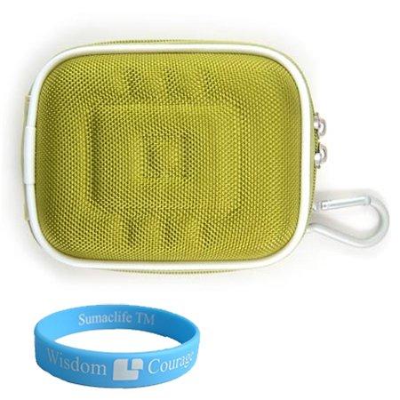 Camera Case for Canon PowerShot IXUS SD Series (Nylon Green) + Includes SumacLife Wisdom Courage Wristband