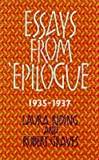 img - for Essays from Epilogue 1935-1937 (Lives & letters: the Millennium Graves) book / textbook / text book