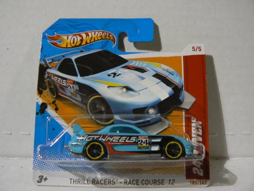 Hot Wheels Thrill Racers - Race Course 12 (5/5) 24/Seven (185/247) Short Card - Light Blue - 1