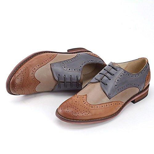 Women Oxford leather shoes E215 (9 B(M)US, B)