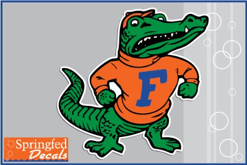 "Florida Gators Albert Mascot 18"" Vinyl Decal Car Truck Window Sticker Uf"