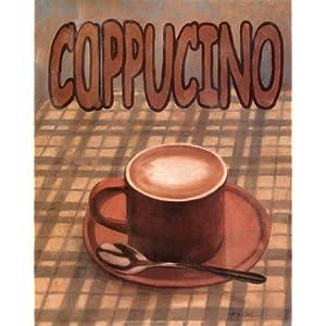 Cappuccino Art Poster Print by T. C. Chiu, 8x10