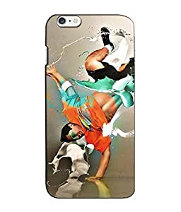 Crazymonk Premium Digital Printed 3D Back Cover For Apple I Phone 6S Plus