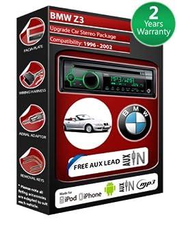 BMW Z3 E36 de lecteur CD et stéréo de voiture avec radio Clarion CZ102EG entrée auxiliaire en façade