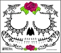 Best Cheap Deal for Black Lacey Web Sugar Skull Day of the Dead Temporary Face Tattoo from Tinsley Transfers - Free 2 Day Shipping Available