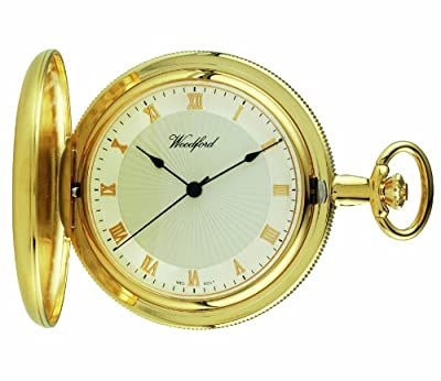 Woodford Pocket Watch 1053 Gold Plated Full Hunter