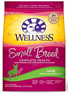 Wellness Complete Health Natural Dry Dog Food, Small Breed Turkey & Oatmeal, 12-Pound Bag