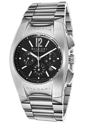 Bulgari Men's Ergon Automatic Chronograph Silver-Tone Steel Black Dial