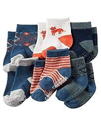 Carter\'s Baby-Boys Socks, Fox, 0-3 Months (Pack of 6)