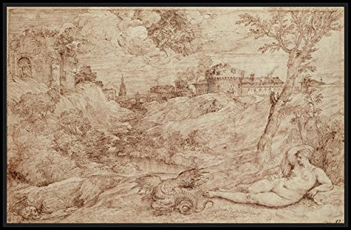 Landscape with a Dragon and a Nude Woman Sleeping