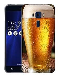 Snoogg Cool Beer Designer Protective Back Case Cover For ASUS ZENFONE 3 ZE520KL