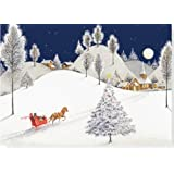 Moonlight Sleigh Ride Holiday Boxed Cards (Christmas Cards, Holiday Cards, Greeting Cards)