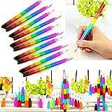 Standard Pencils Stacker Swap Pencils Building Block Non-Sharpening Pencil Bullet Pencil For Kids Gifts 14Cm Colorful Wooden Pens 4Pcs/Lot - (Color: Colorful) (Color: colorful)