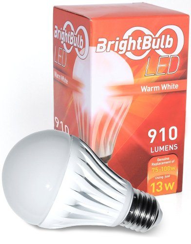 LED Light Bulb- 13W BrightBulb LED LightBulbs A19, High Efficiency,, Warm White (13W= 75-100W Traditional, Non-Dimmable) (Lightbulb 120v 100w compare prices)