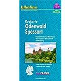 Radkarte Odenwald, Spessart, Aschaffenburg - Bensheim - Darmstadt - Michelstadt - Miltenberg, RK-HES08. 1 : 75...