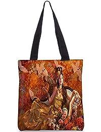 Snoogg Fantasy Girls Digitally Printed Utility Tote Bag Handbag Made Of Poly Canvas
