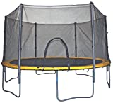 Bravo Sports Air Zone 14-Foot Spring Trampoline/Enclosure Combo (Yellow/Black)