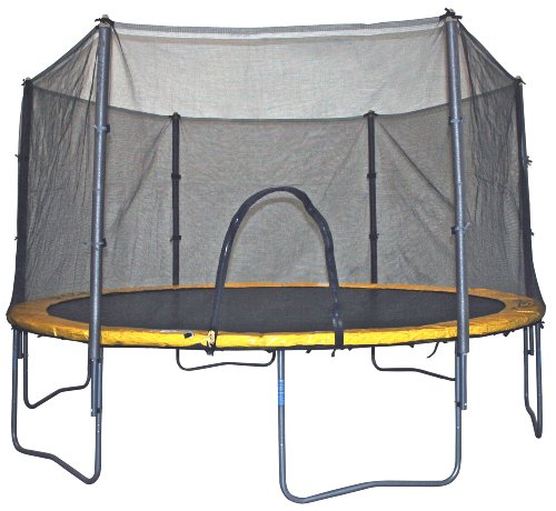 Airzone 14 Spring Trampoline And Enclosure Set: Bravo Sports Air Zone 14-Foot Spring Trampoline/Enclosure