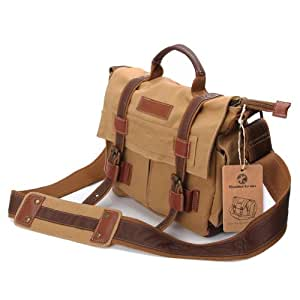 koolertron DSLR SLR Camera Canvas shoulder bag for Sony Canon Nikon Olympus BBK2