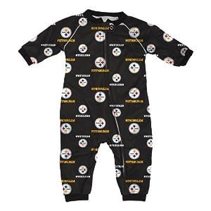 Pittsburgh Steelers NFL Toddler Raglan Zip Up Sleeper at Steeler Mania