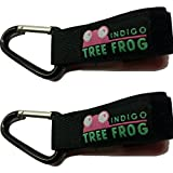 Stroller Hook Clips By Indigo Tree Frog - 2-Pack Of Versatile Stroller Hook Clips For Bags And Diaper Bags - Metal...