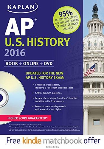 Kaplan AP U.S. History 2016: Book + DVD (Kaplan Test Prep)