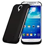 Invero® 3300mAh Rechargeable External Protective Battery Case Cover with Stand Feature for Samsung Galaxy S4 GT-I9500 (Black)