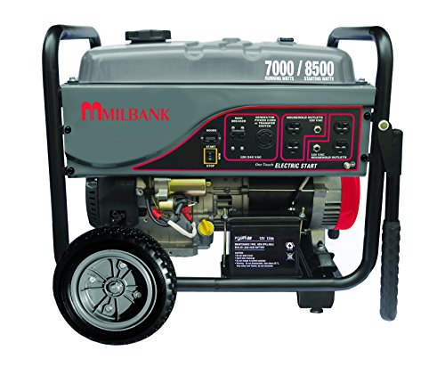 Milbank MPG70002E Portable Generator with Electric Start, 7,000 Watt