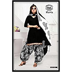 Vivel Women's Unstitched Cotton dress material (SS_8_Pack of 4_Large)