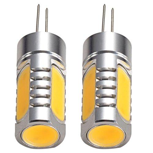 Mudder® 2Pcs G4 Base Dc/Ac 12-24V 6W Cob Smd 220-260Lm Led Bright Warm White Light Spotlight Bulbs