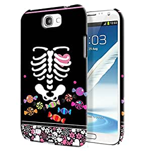 Theskinmantra Choc skeleton Back Cover for Samsung Galaxy Note 2