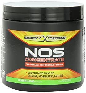 Body Fortress NOS Concentrate Nutrition Beverages, Lemon-Lime, 250 Gram