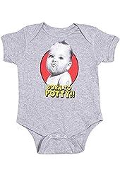Born To Potty Gray Cotton Onesie