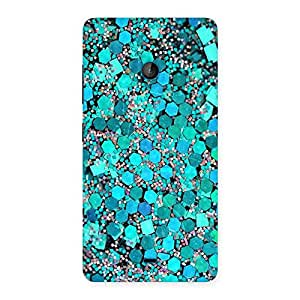 Delighted Paper Green Print Back Case Cover for Lumia 540
